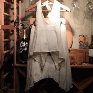 Dresses & Skirts - Gauze matching halter top&skirt in a buttery crème